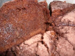 チョコケーキの切り身